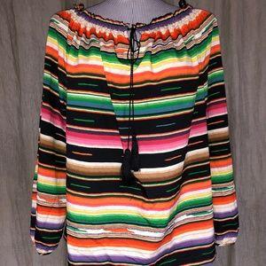 Ralph Lauren NEW Mexican Desert Stripe tunic top L